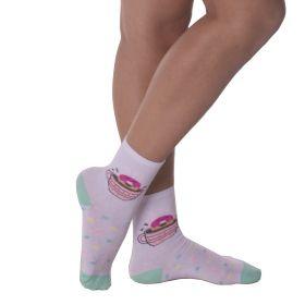 Kit com 3 pares de meias infantil meninas Selene