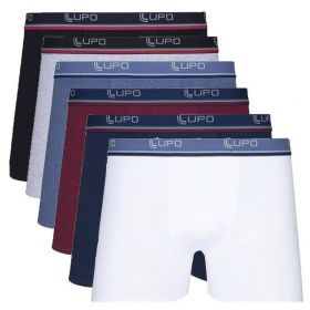 Kit Com 6 Cuecas Boxer Cotton Confort Lupo