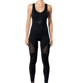 Macacão longo feminino costas nadador para academia fitness Lupo 71591