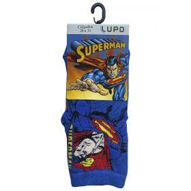 Meia Infantil Em Algodão Personagem Superman DC Lupo