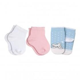 MEIA INFANTIL KIT COM 3 PARES LUPO BABY
