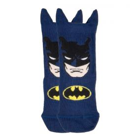 Meia infantil masculina cano curto Batman Lupo -