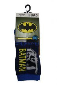 Meia infantil masculina cano curto Batman Lupo