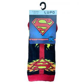 Meias Em Algodão Superman DC Lupo Infantil