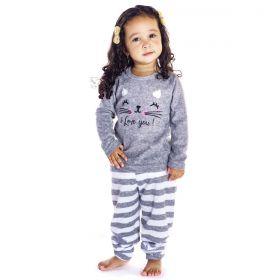 Pijama baby estampado de inverno plush para menina Victory