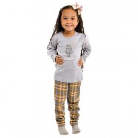 Pijama de inverno Coleção Família baby menina Victory
