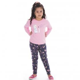 Pijama de inverno infantil para menina SWEET Victory