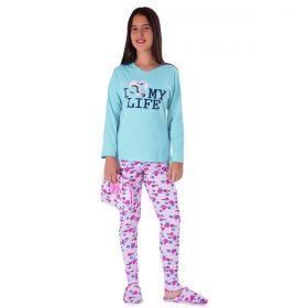 Pijama De Inverno Juvenil Estampada Victory