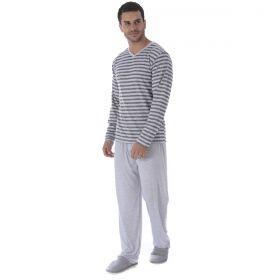 Pijama de Inverno Masculino meia malha Victory