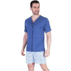 Pijama de Verão Masculino Com Botões Victory Ref 19066