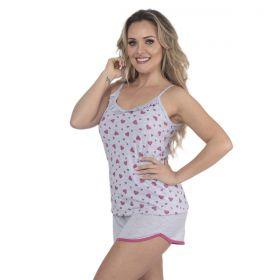 Pijama feminino de verão modelo GLITTER short doll e alcinha da Victory