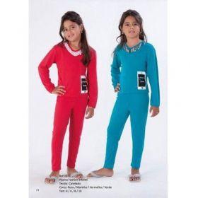 Pijama Feminino Infantil Inverno Marca Victory pijama longo canelado