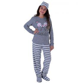 Pijama Feminino Juvenil De Inverno Victory
