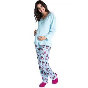Pijama Feminino Longo Gestante Adulto Victory Ref: 19126