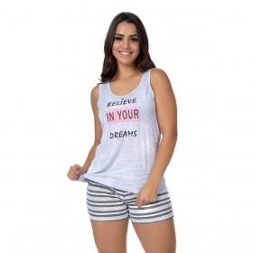 Pijama feminino para o verão coleção família Victory