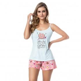 Pijama feminino para o verão de alcinha Victory