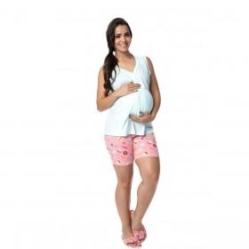 Pijama feminino para o verão de gestante Victory