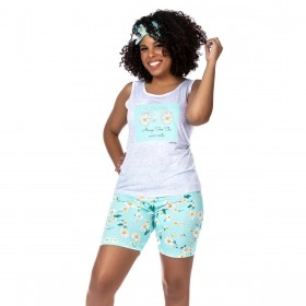 Pijama feminino para o verão modelo bermudoll Victory