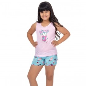Pijama infantil de verão para menina Victory