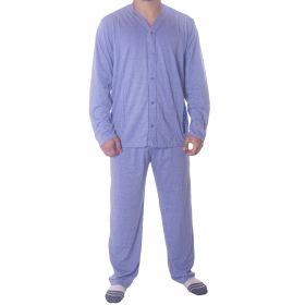 Pijama inverno de botão mescla masculino Victory