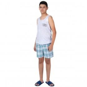 Pijama juvenil de verão para menino modelo regata Victory