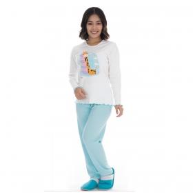 Pijama juvenil para menina de inverno peluciado Victory
