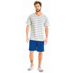 Pijama masculino com camiseta e bermuda de verão da Victory