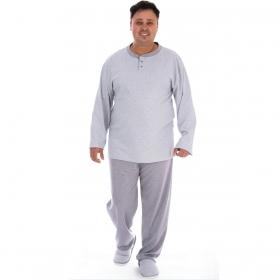 Pijama plus size masculino para o inverno LORD PLUS Victory