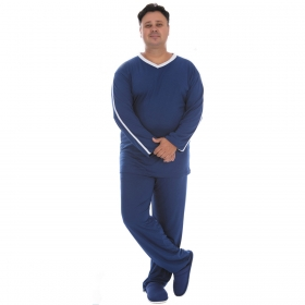 Pijama plus size masculino para o inverno SPORT Victory