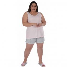 Pijama plus size verão short doll regata MADAM feminino Victory