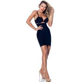 Saia Anágua modeladora com alça e cintura alta Nayane Rodrigues