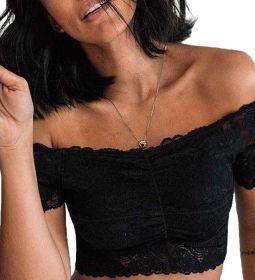 Top Cropped Rendado Ombro a Ombro Sem Bojo Liebe  -