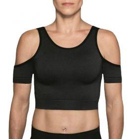 Top feminino modelo Cropped com abertura nas costas Fitness Lupo  .