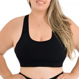 Top plus size modelo nadador feminino Selene