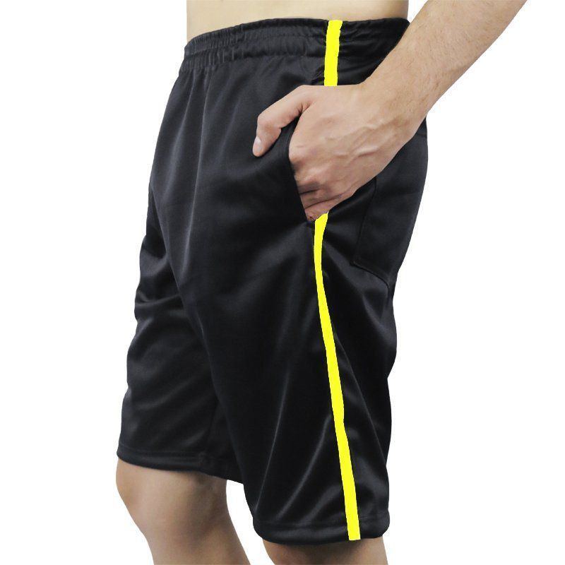 Bermuda Calção Masculina com Bolsos e Listra lateral Esportiva Primeira Hora -