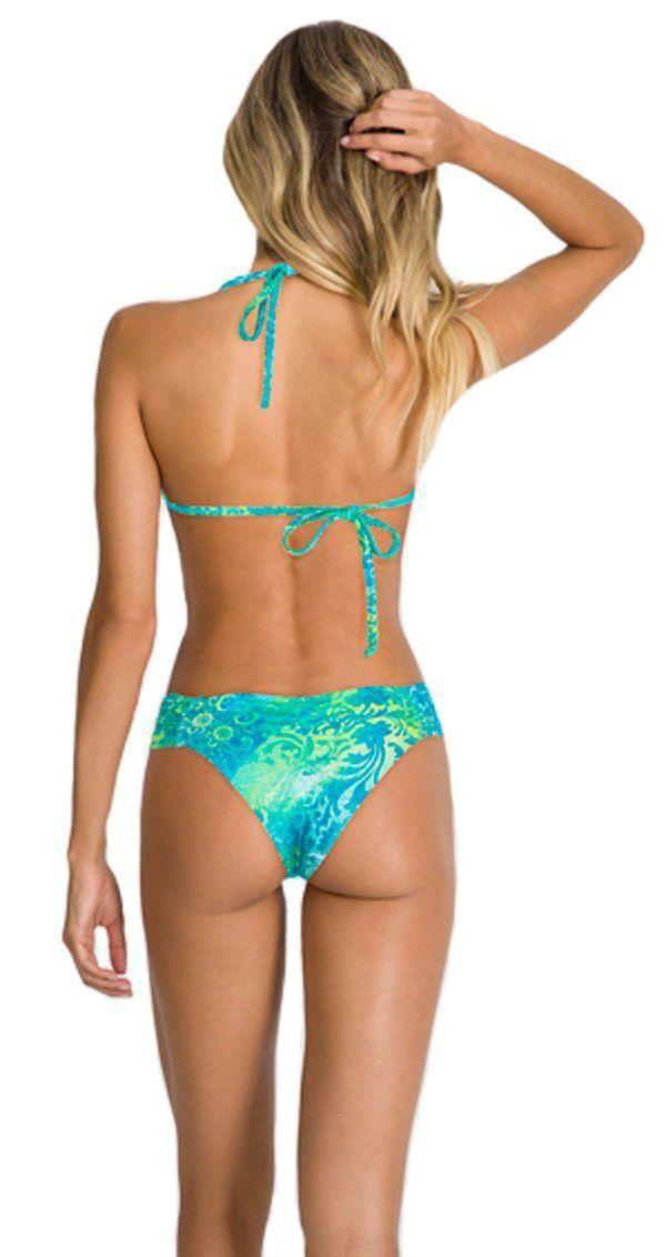 Biquíni cortininha bojo levanta bumbum moda praia feminina Arsiè