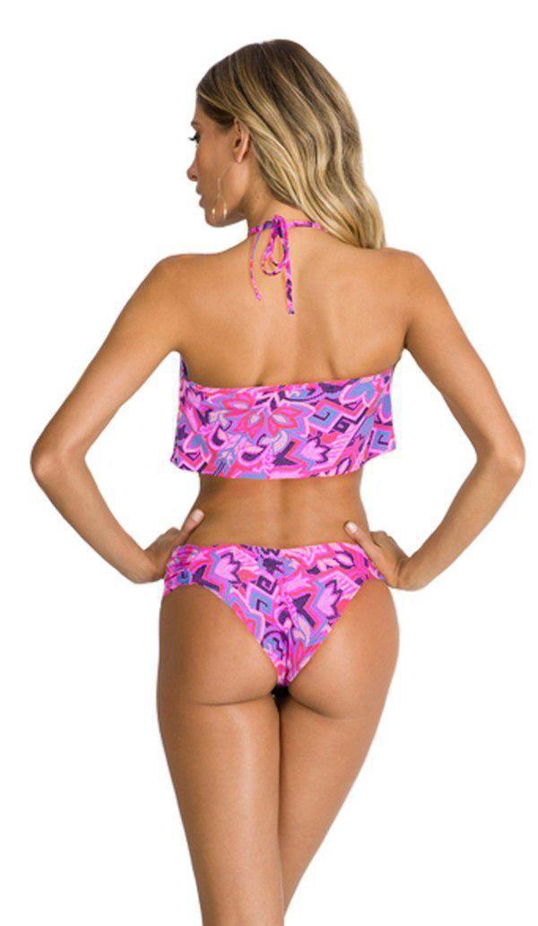 Biquíni cropped bojo levanta bumbum moda praia feminina Arsiè
