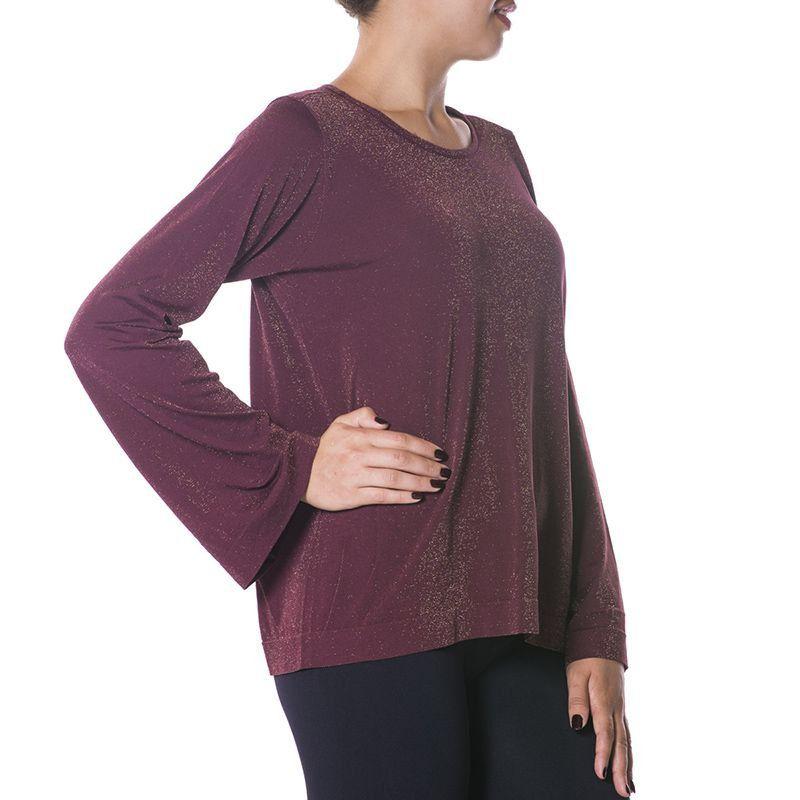 Blusa Loba Trend Lurex Feminina Sem Costura