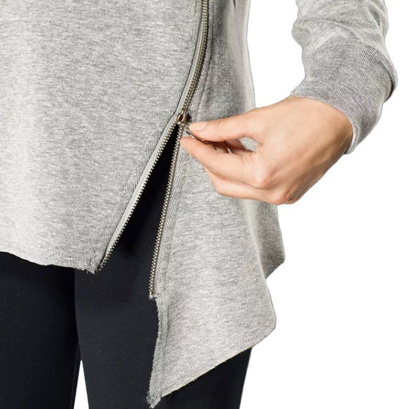 Blusa manga longa moletom feminina para academia e ginástica Lupo -