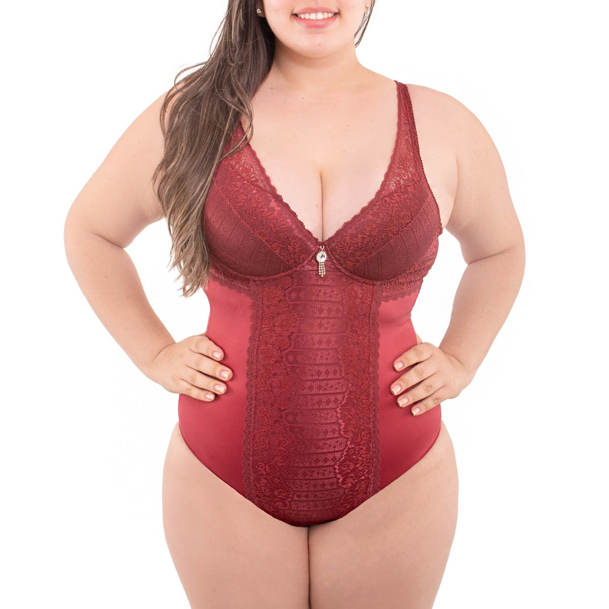 Body plus size bojo e renda sensual lingerie Nayane Rodrigues