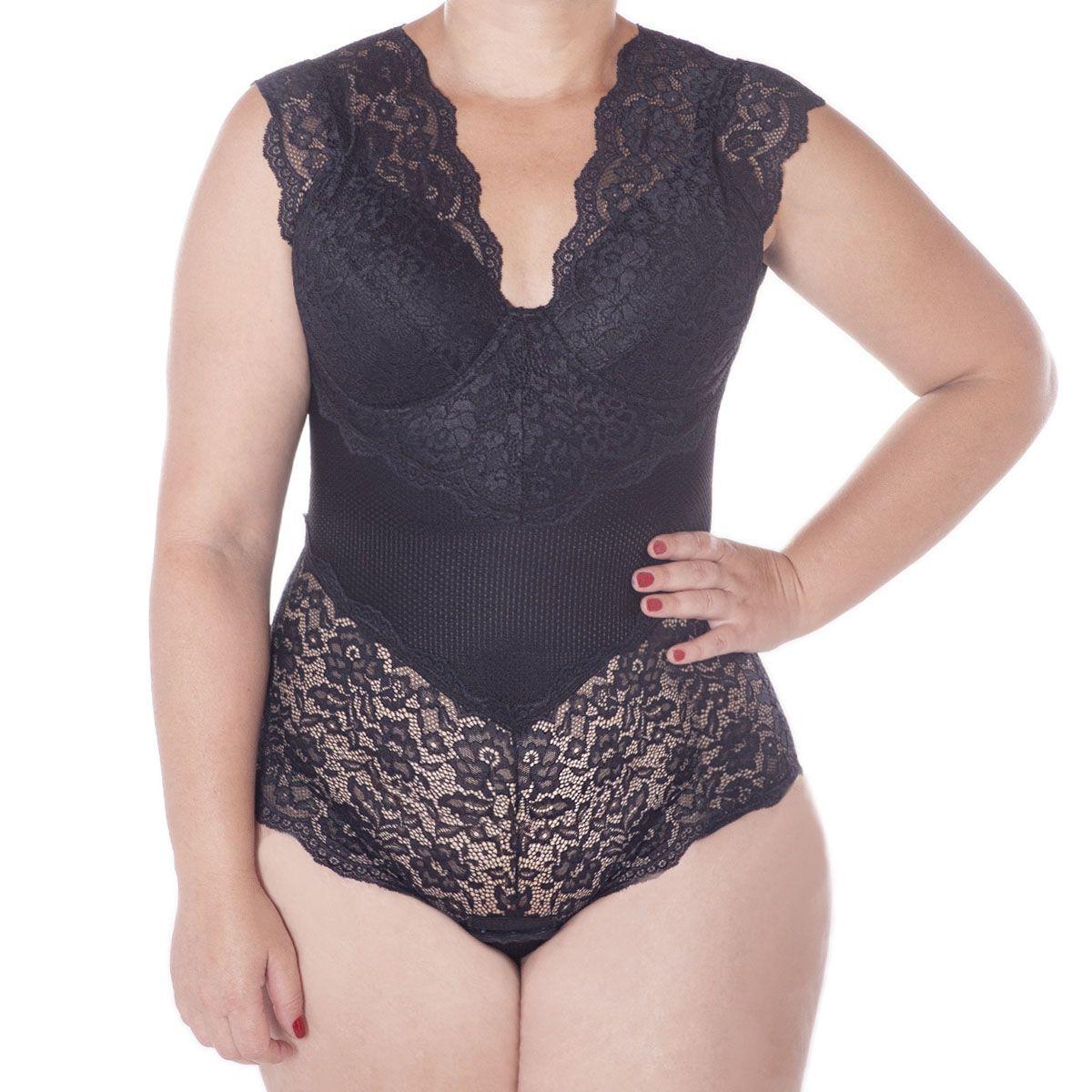 Body Plus Size Rendado Bojo Copa C Liebe