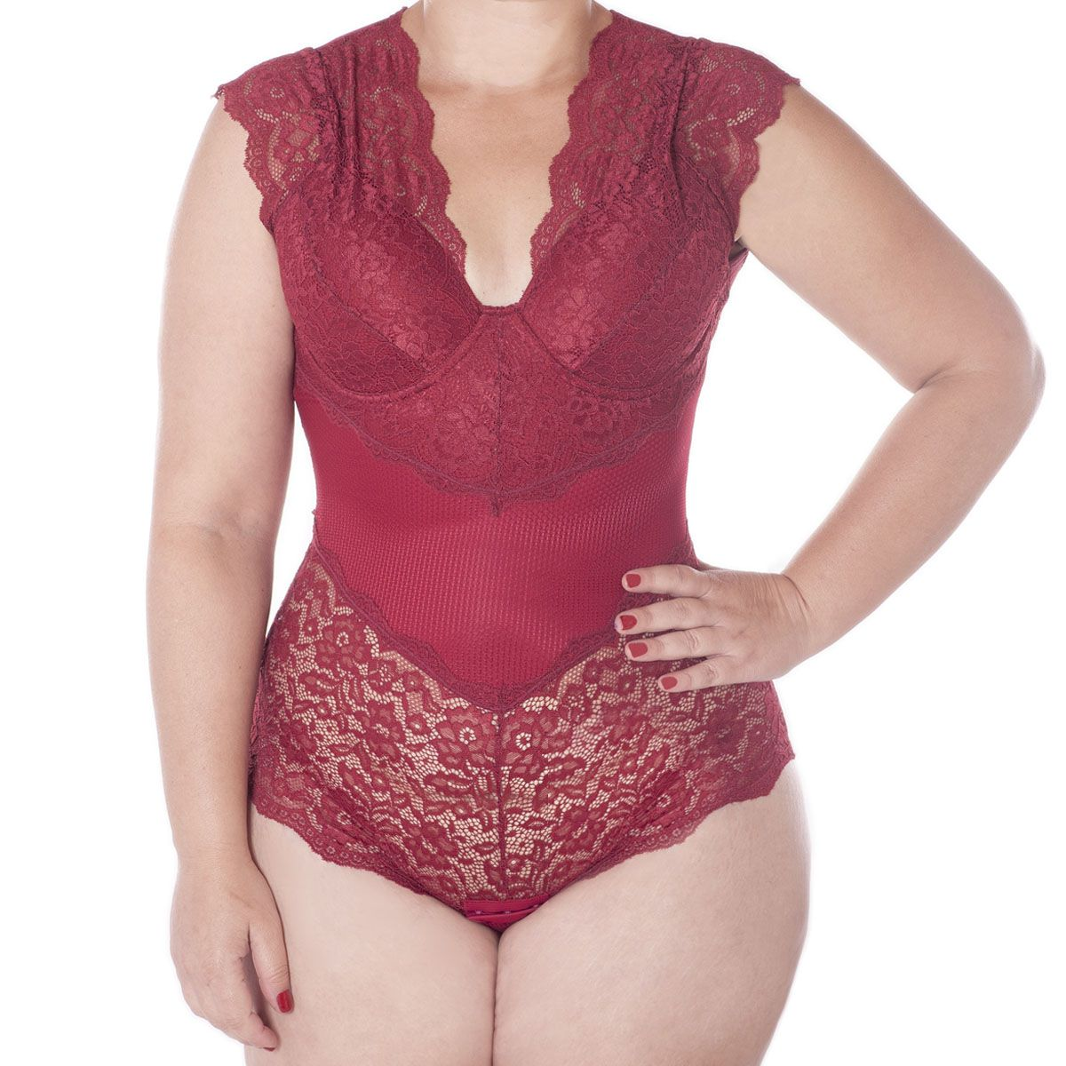 Body Plus Size Rendado Bojo Copa C Liebe