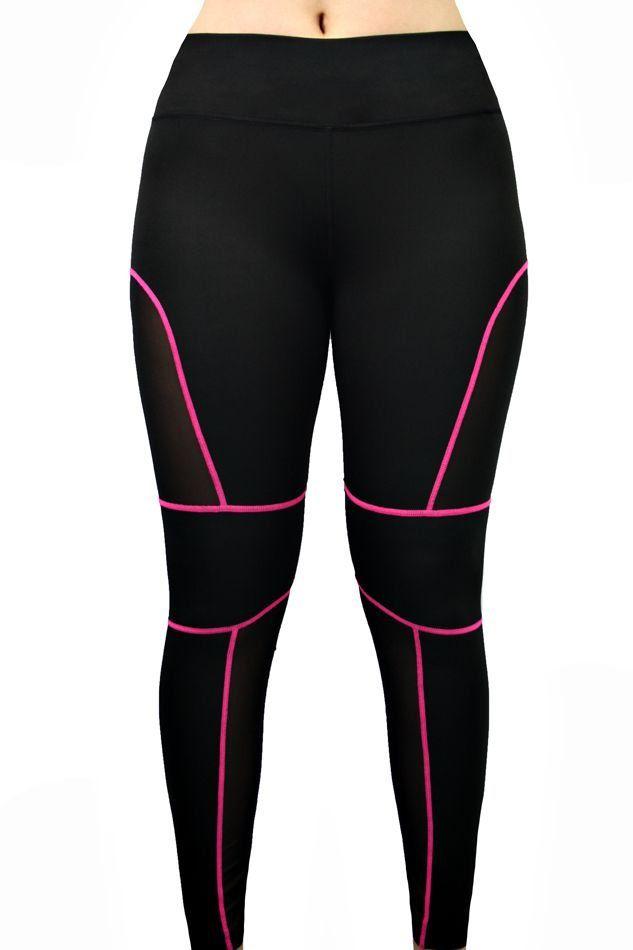 Calça feminina legging com transparência fitness Hangar Moriah LG008