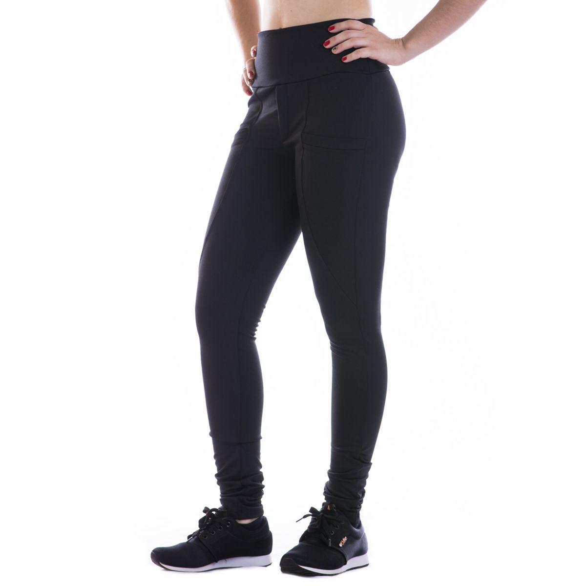 Calça feminina Legging Peluciada com bolso frontal Dicors