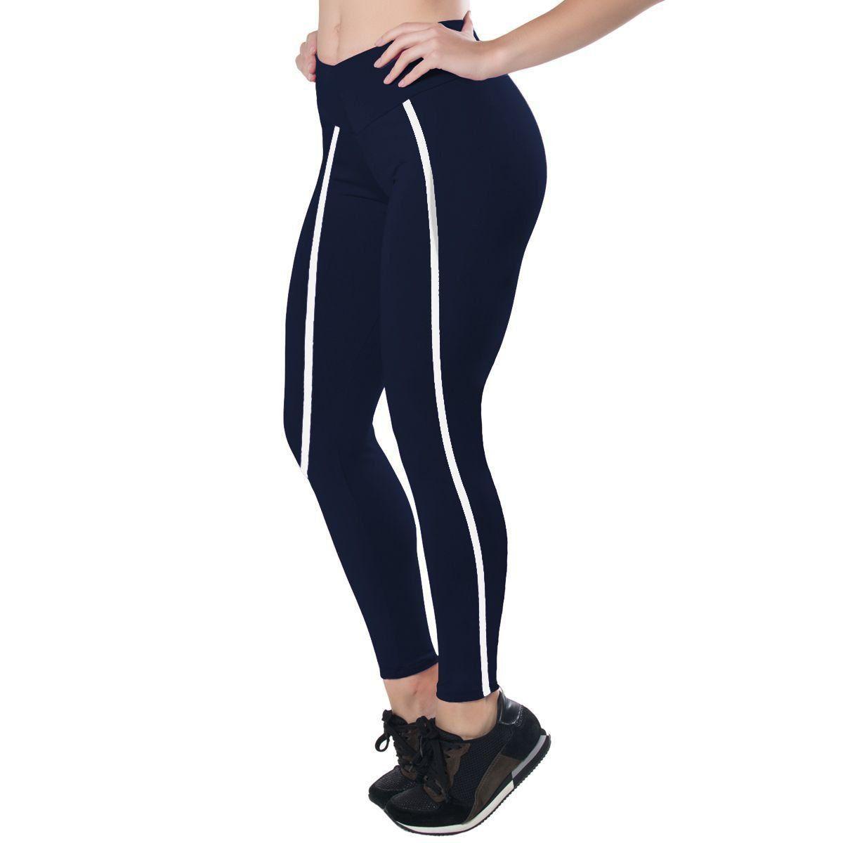 Calça feminina Legging Peluciada com listra na lateral Dicors -