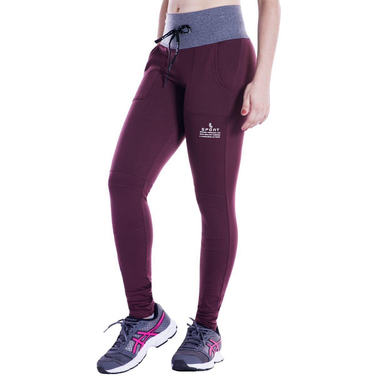 Calça Feminina Lupo Sport AF Basic Recortes