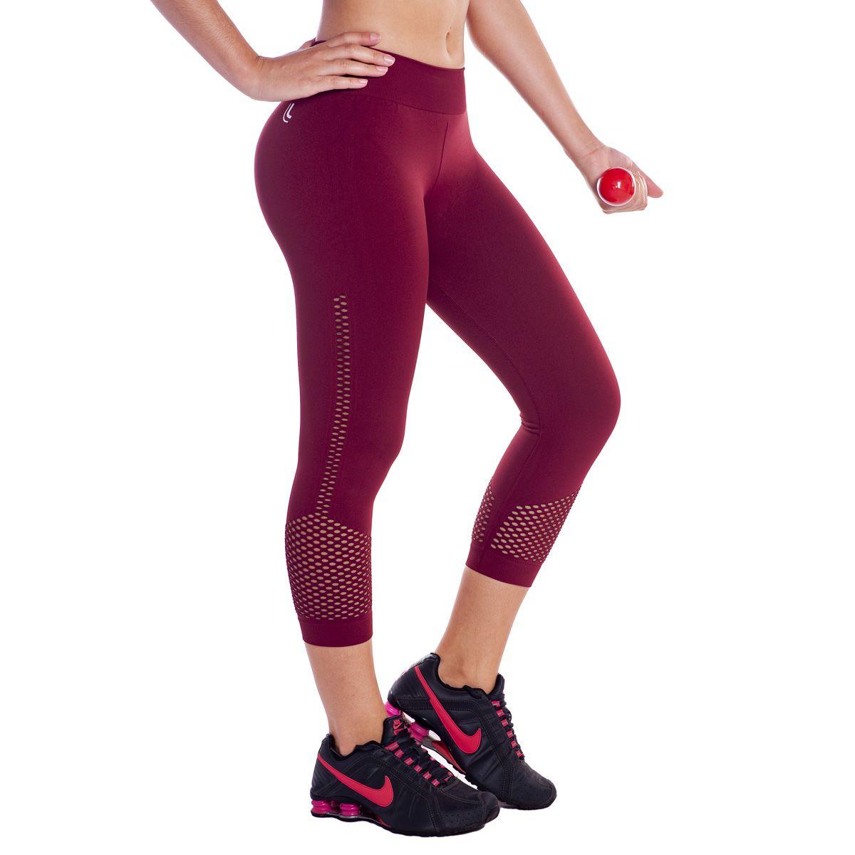 Calça legging capri lupo - Roupa Fitness para Academia e ginástica