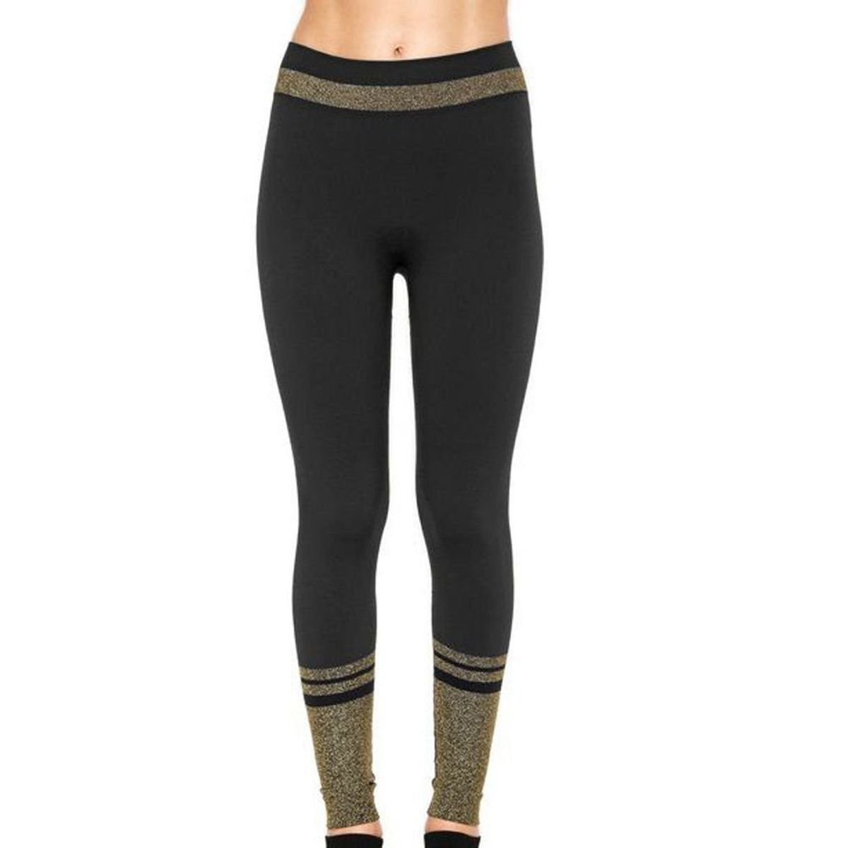 Calça legging feminina com brilho para academia fitness Lupo -