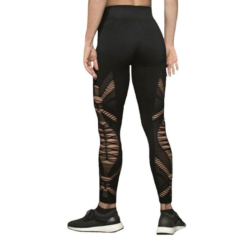 Calça Legging fitness feminina com detalhes em Trama Lupo  -