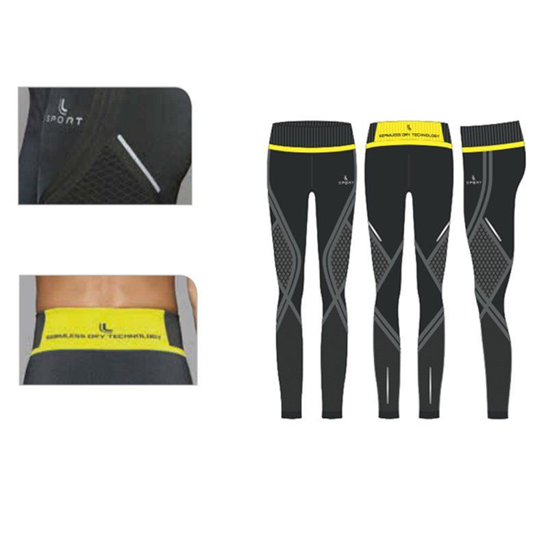 Calça Legging Shine Run Fitness Lupo Sport Ref 71707